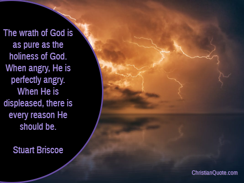 Quote By Stuart Briscoe On The Wrath Of God Christian